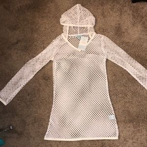 Balance Cover Up Collections White Hooded Pullover